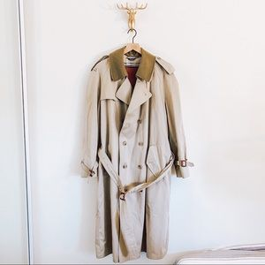 Stafford Double Breasted Trench Coat Size 44R